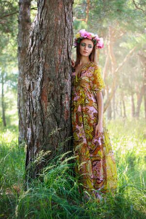 Fairytale woman in the forest