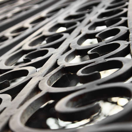 Forged iron decoration detail