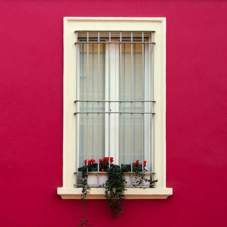 exterior house: Typical Italian windows of colored building