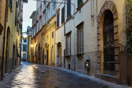 lucca: Old streets of Lucca, Italy