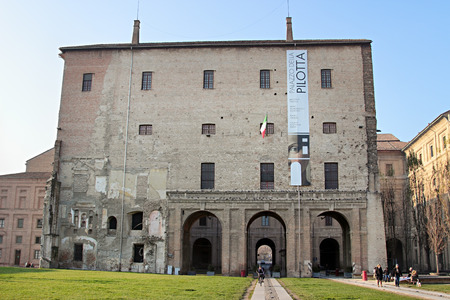 december 25: PARMA, ITALY - DECEMBER 25, 2014: Palace of Pilotta is one of the biggest museums in Parma, on December 25, 2014. Editorial