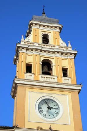 reloj de sol: Ayuntamiento con reloj de sol, Parma, Italia