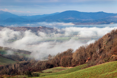apennines: Morning landscape in the Apennines mountains, Italy