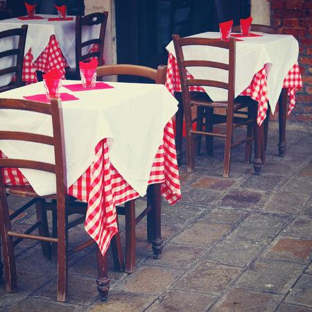 Restaurant tables outdoor