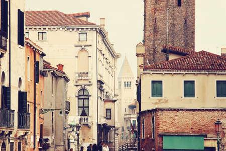 color effect: Venice architecture. Color effect applied. Stock Photo