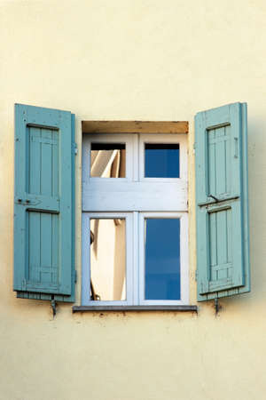 shutters: Old window with shutters