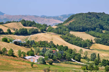 apennines: Natural landscape in the Apennines mountains, Italy. Summer sunny day.