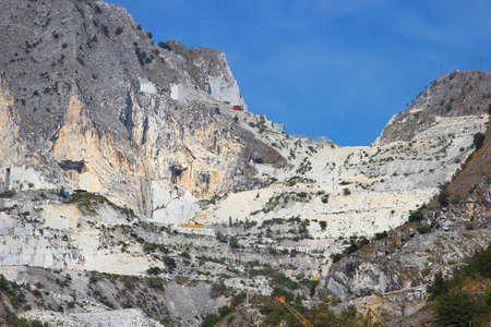 apennines: Stone mountain with white marble quarries in the Apennines, Carrara, Italy. Qualitative Carrara marble is mining here.