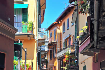 bellagio: Houses in historical town of Bellagio, Como lake, Italy.