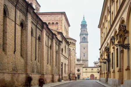 historical buildings: Historical buildings in old center of Parma, Italy.