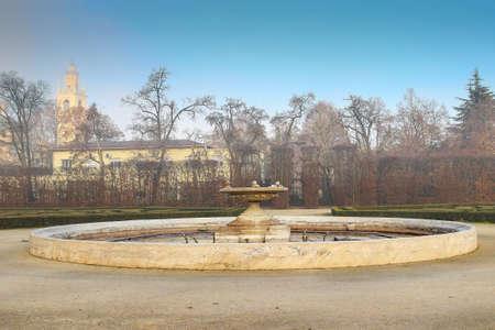 reggio emilia: Old fountain in the park of Reggio Di Colorno palace, Colorno, Emilia Romagna region, Italy.