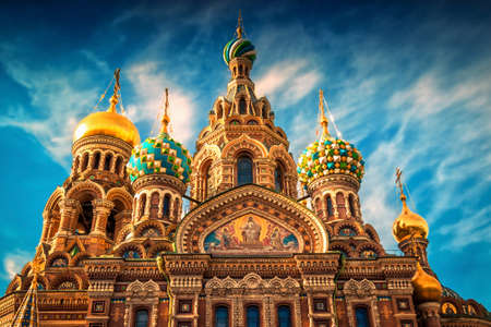 Church of the Savior on Spilled Blood at sunset in St. Petersburg. Russia.