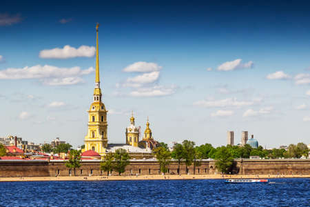 Peter and Paul fortress on the bank of Neva river in Saint Petersburg, Russia.