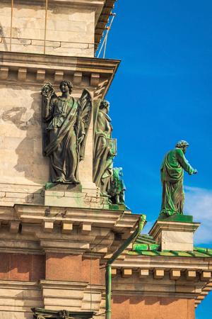 Sochy na katedrále Isaac v Petrohradě, Rusko.