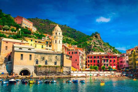 Vernazza, Cinque Terre, Italy. Stock Photo
