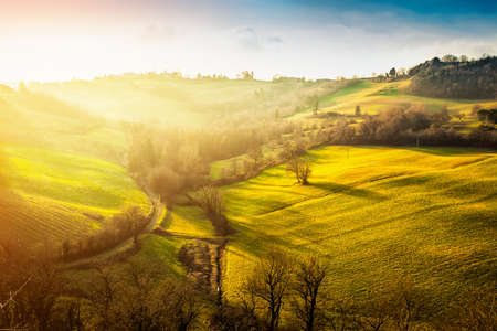 Hills at sunset. Italy.
