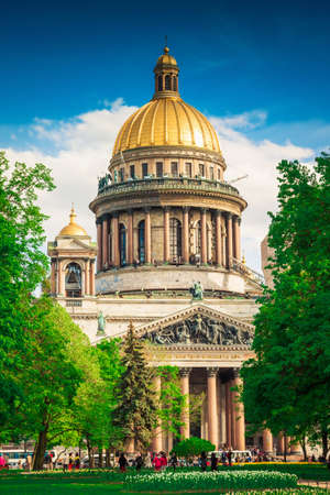 isaac: Scenic view of Isaac cathedral in Saint Petersburg, Russia.