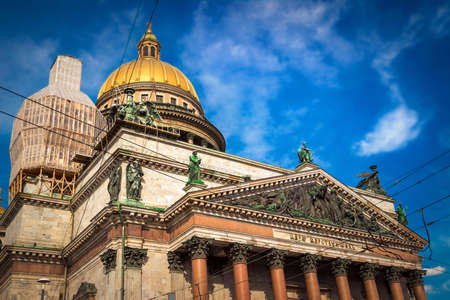 isaac: Orthodox church - Isaac cathedral in Saint Petersburg, Russia. Stock Photo