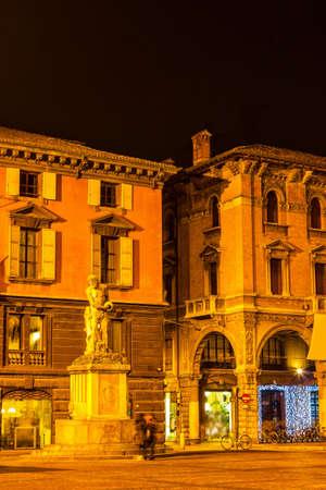 reggio emilia: Beautiful night view of Piazza del Duomo in Reggio Emilia, Emilia-Romagna, Italy.