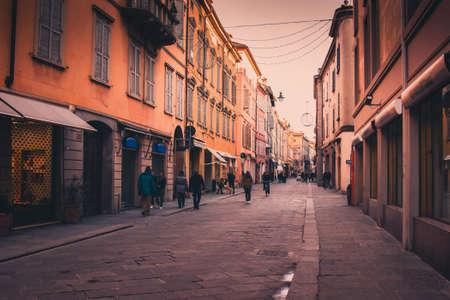 reggio emilia: Streets in Reggio Emilia, Emilia-Romagna, Italy. Stock Photo