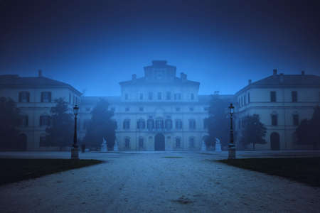 Ducale palace in the noght in Parma, Emilia-Romagna, Italy. Editorial