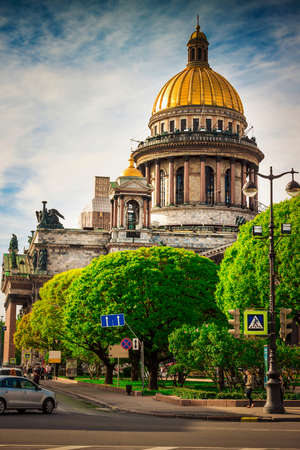 isaac: Isaac cathedral in Saint Petersburg, Russia. Stock Photo