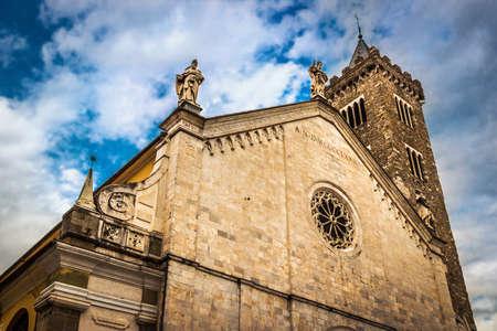 Santa Maria Assunta cathedral (Concattedrale di Santa Maria Assunta di Sarzana) in Sarzana, Liguria, Italy.