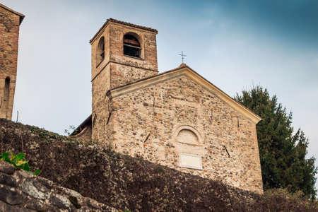 Historical church near Torrechiara castle in Emilia-Romagna region, Italy.