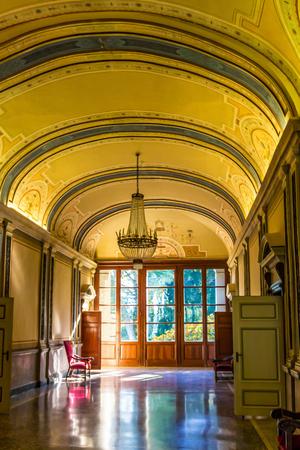 VILLA CARLOTTA, ITALY - AUGUST 02, 2015: Inside of villa Carlotta, Como lake, Italy.