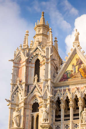 Famous cathedral of Saint Mary of the Assumption in Siena, Italy.