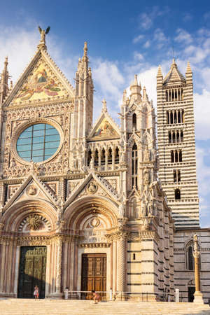Cathedral of Saint Mary of the Assumption in Siena, Tuscany, Italy. Stock Photo