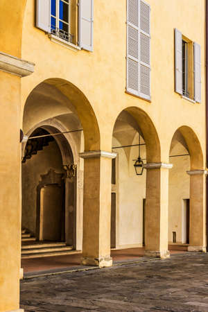 Arches in the building. Italy architecture. Stock Photo