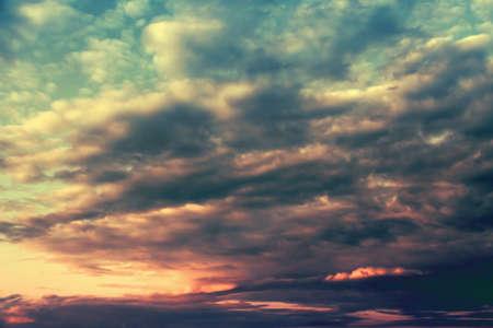 Cloudscape in the sky.