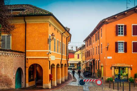 Houses in old Fontanellato, Emilia-Romagna, Italy.