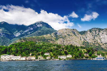 Beautiful landscape with Como lake and Alps, Italy.