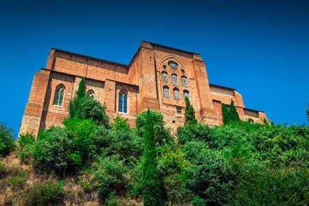Basilica of San Domenico in Siena, Tuscany, Italy.