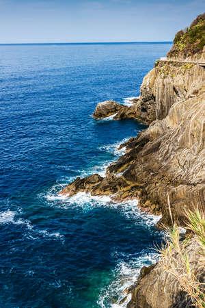 Rocky coast and the sea. Stock Photo