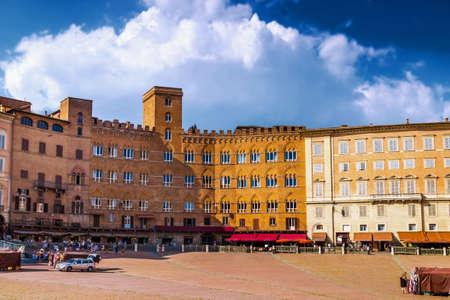 Piazza del Campo square in Siena, Italy. Stock Photo
