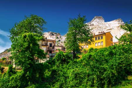 Colonnata village in Massa-Carrara, Tuscany, Italy. Stock Photo
