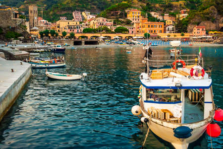 Summer evening in Monterosso, Cinque Terre, Italy.