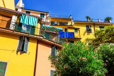 Houses in Riomaggiore, Cinque Terre, Italy.