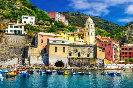 View of summer Vernazza village, Cinque Terre, Italy.