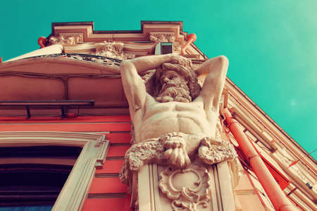 telamon: Atlas sculpture on Belosselsky Belozersky Palace in Saint Petersburg, Russia.