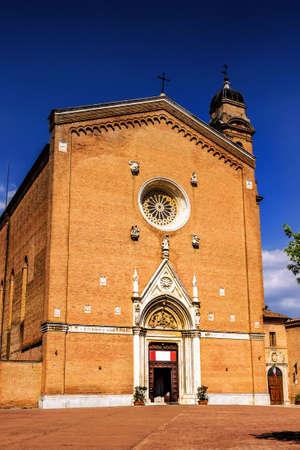Basilica di San Francesco in Siena, Tuscany, Italy. Italian Gothic cathedral. Stock Photo