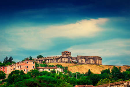View of the castle - Fortezza di Sarzanello in Sarzana, Liguria, Italy
