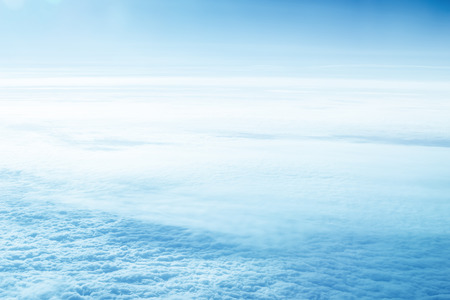 White clouds and blue sky. Cloudscape background.