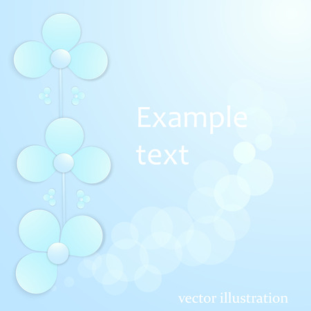 paper background: blue background with paper flowers