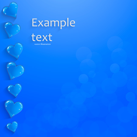 paper heart: Blue heart banner with drop shadows on blue background. Vector illustration Illustration