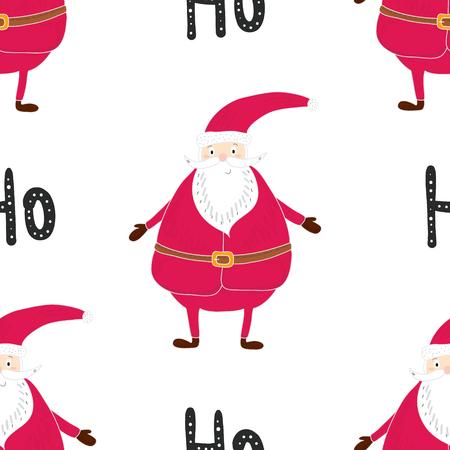 Seamless hand-drawn pattern of Christmas. Printable templates. Illustration