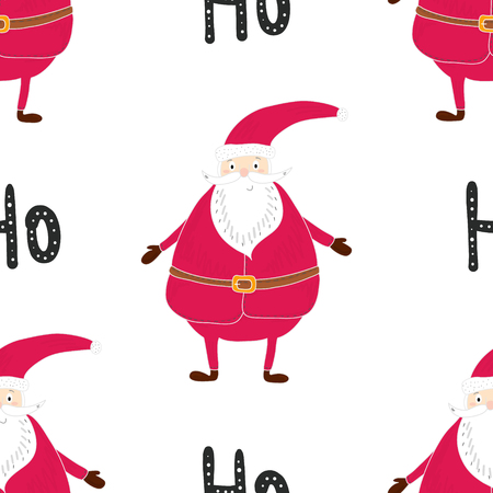 christmastime: Seamless hand-drawn pattern of Christmas. Printable templates. Illustration